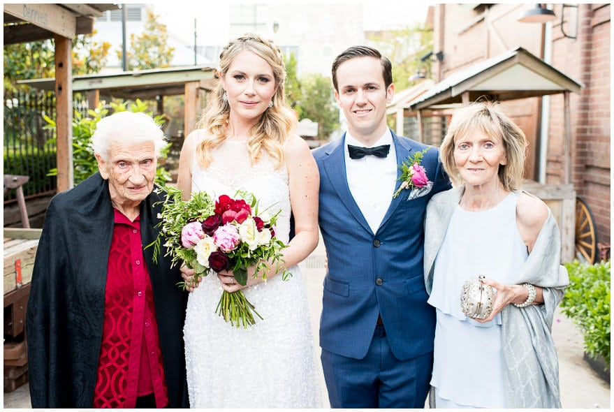 Family Formal group portrait on wedding day