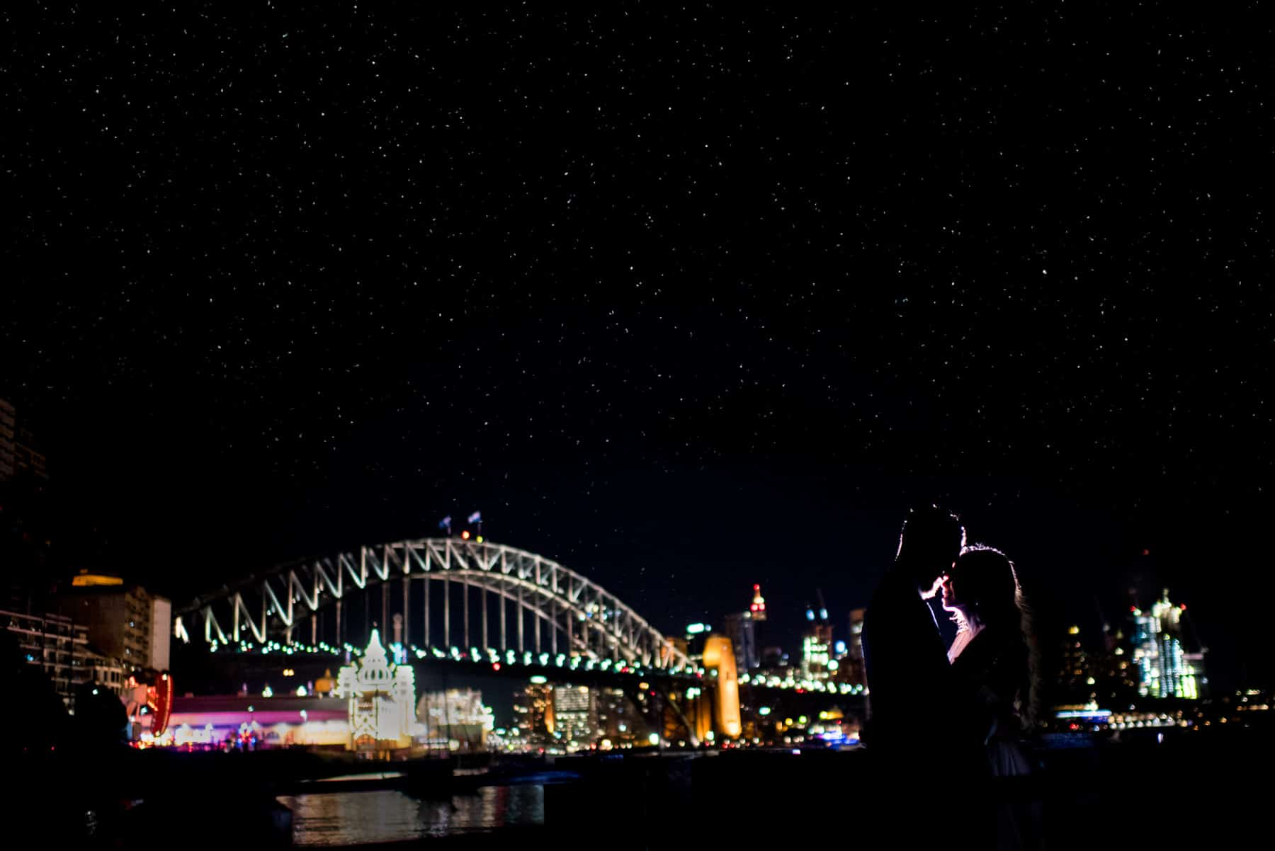 Sydney Harbour Night Wedding Photo