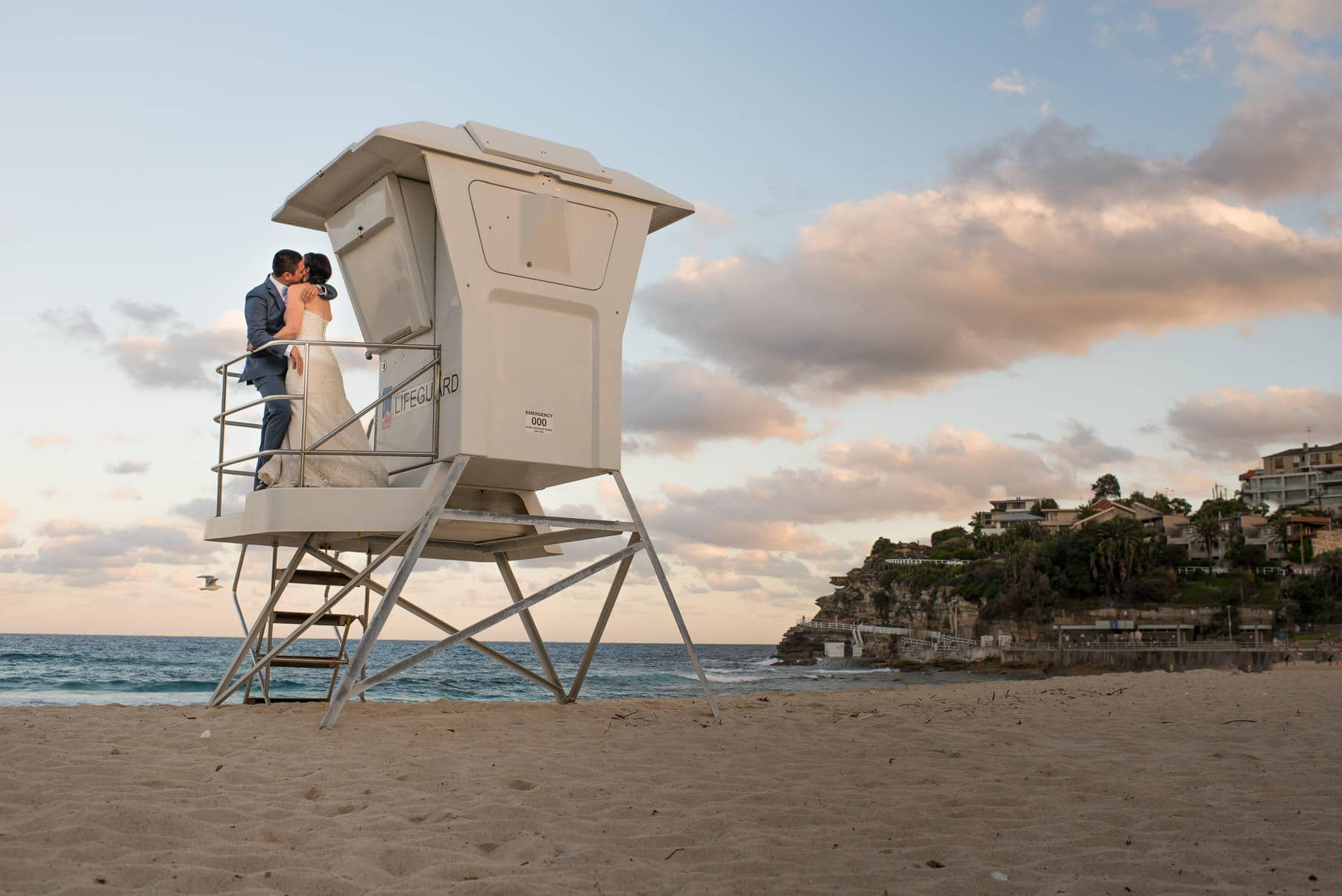 Bronte Beach Wedding Photo
