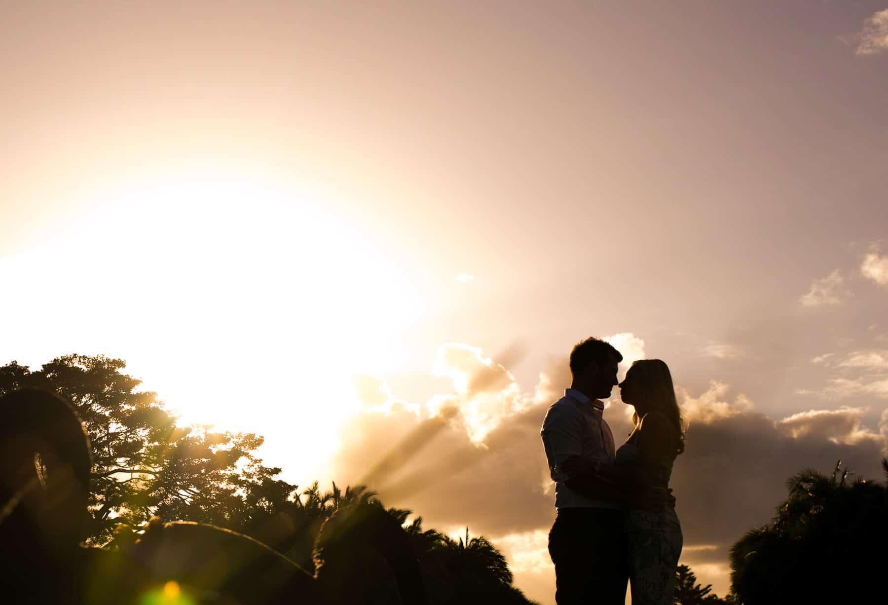 Sydney Engagement Photography - couple silhouette at sunset