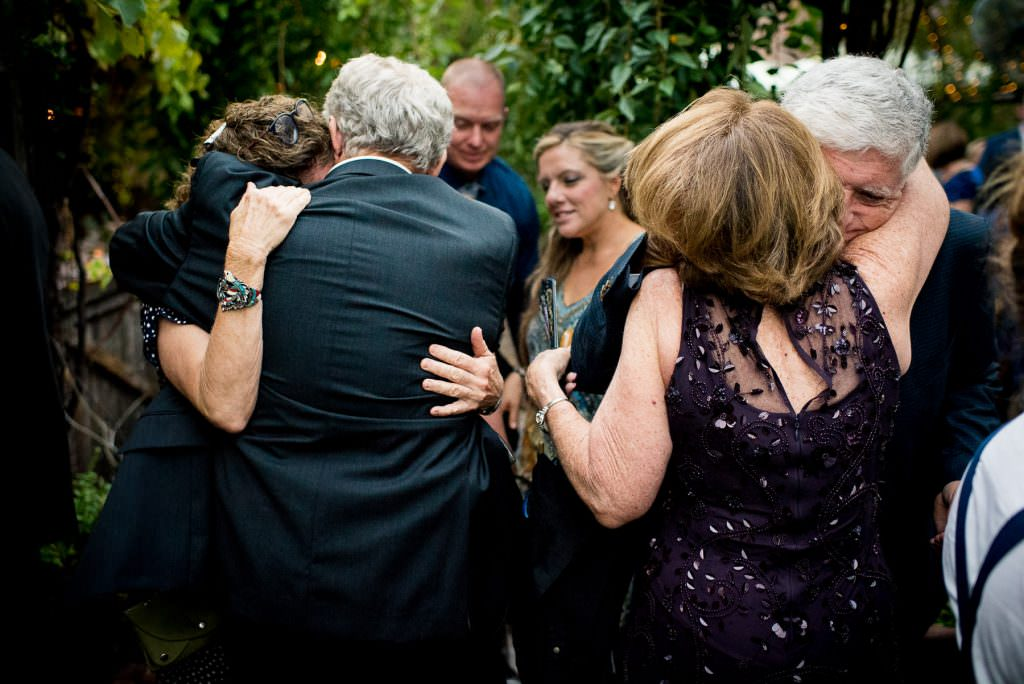 emotional hugs on wedding day
