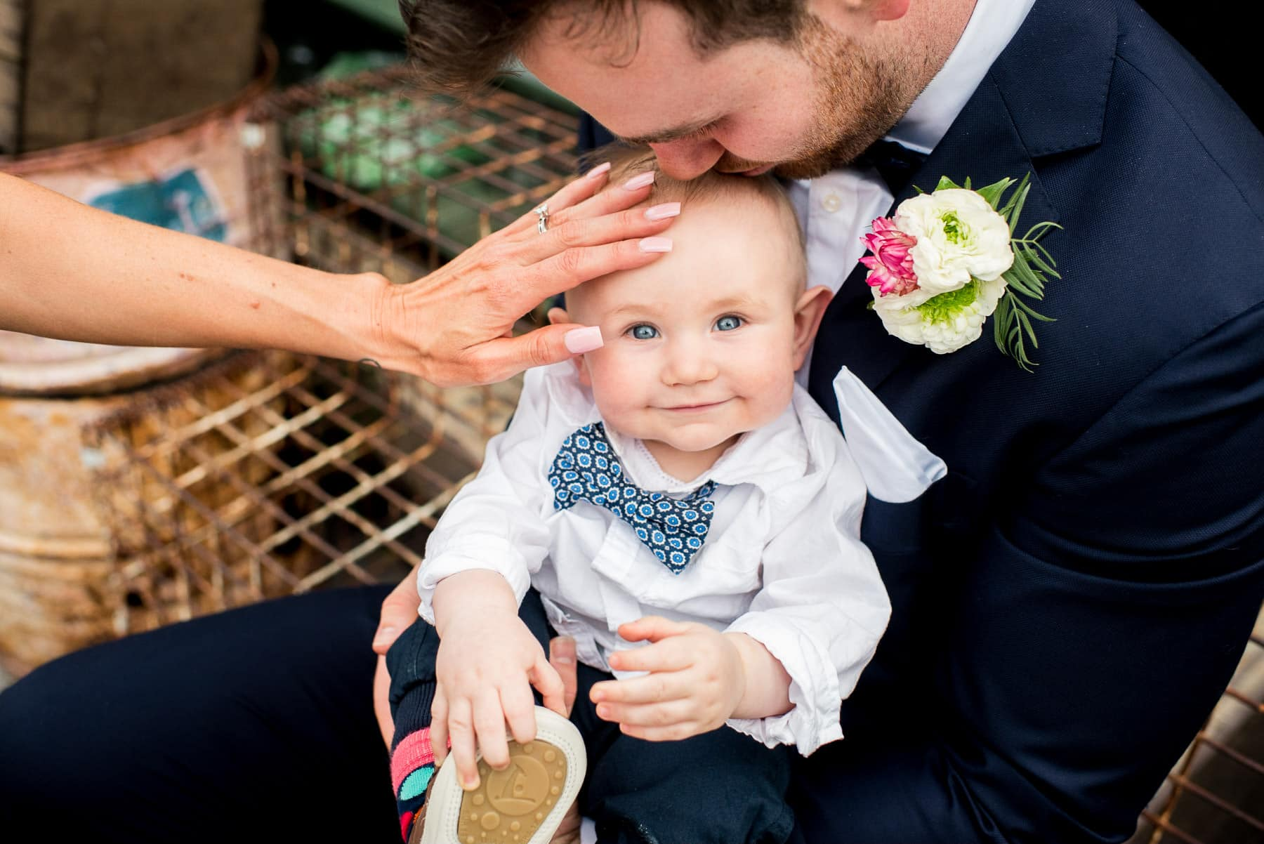 cute baby at a wedding