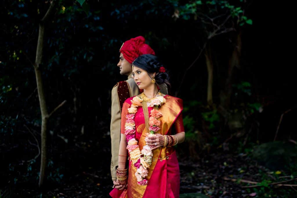 Creative Indian Wedding Photography | bride and groom posing
