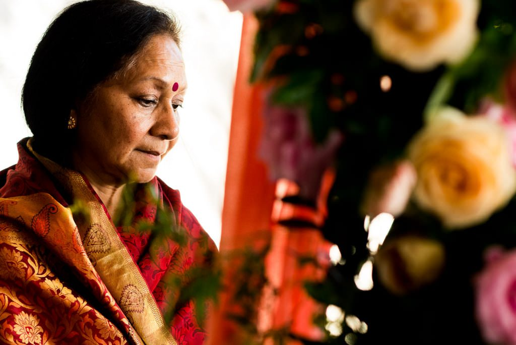 Indian groom's mother at Indian wedding