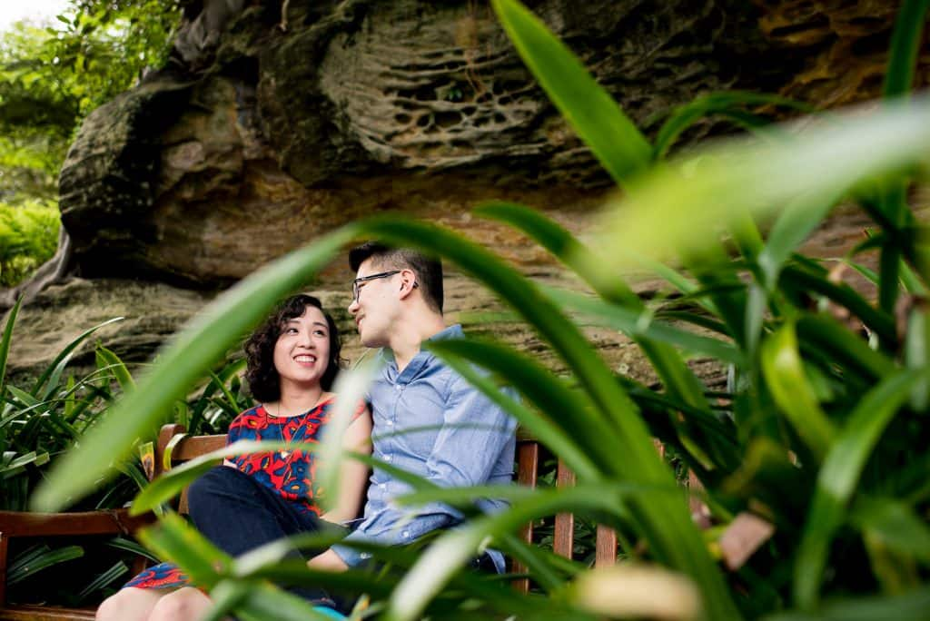 Candid engagement photography in the Sydney botanical gardens