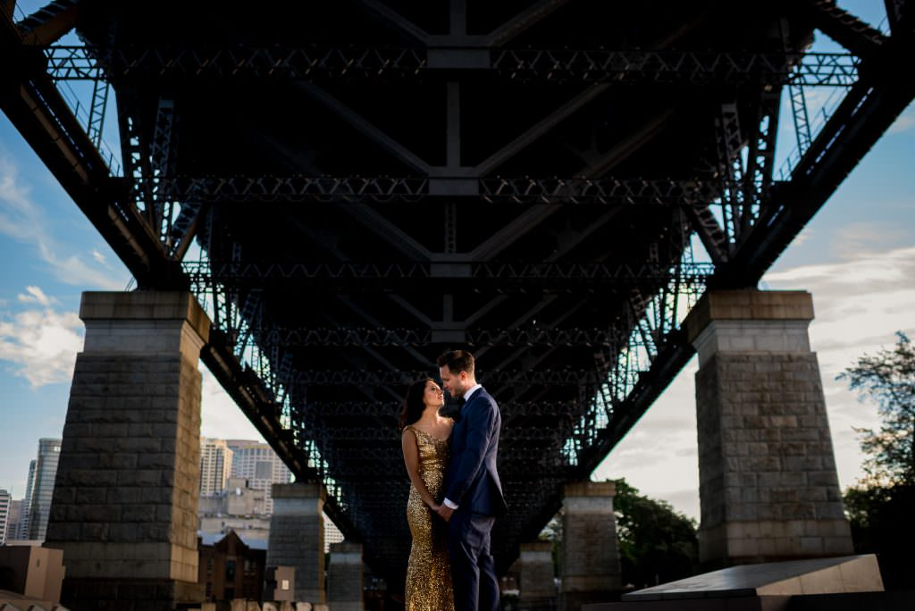 Sydney harbour bridge wedding photography