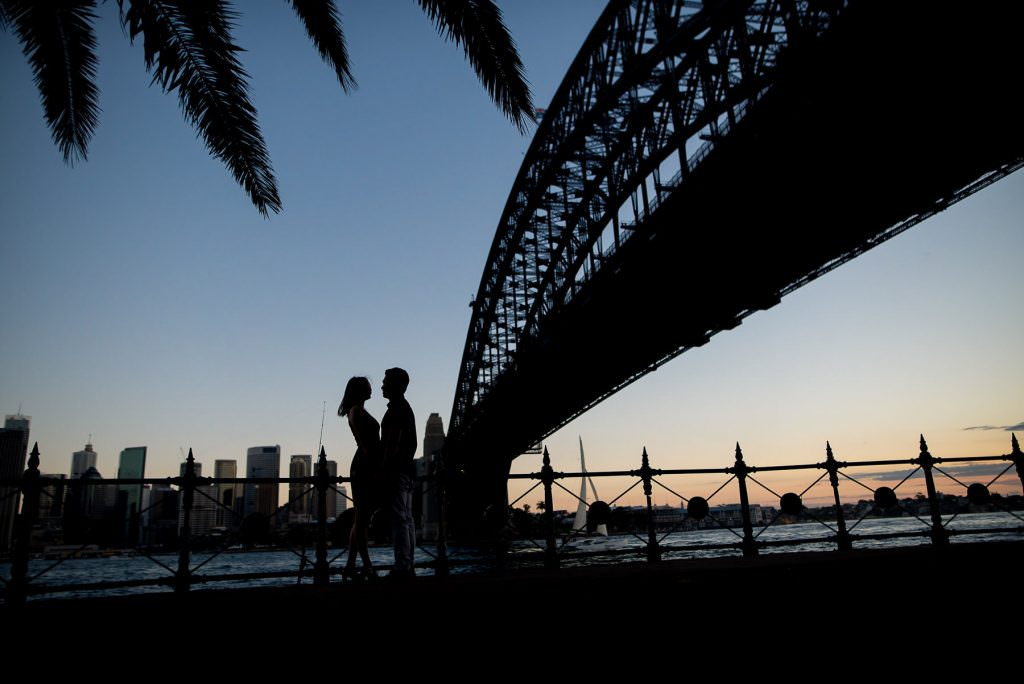 Sydney harbour engagement session