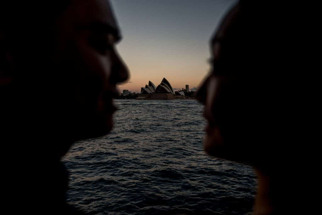 Sydney harbour engagement photography